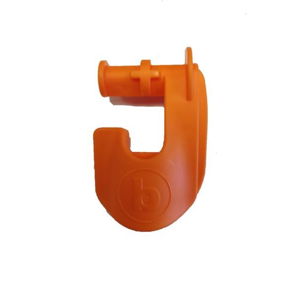 Square left clip orange