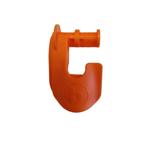 Square right clip orange